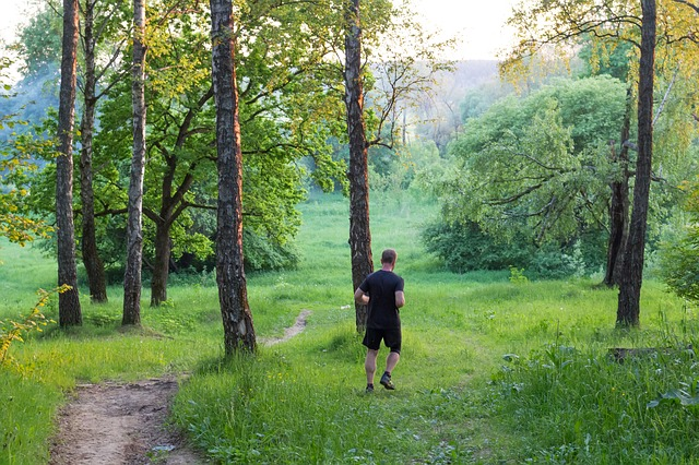 běh v přírodě