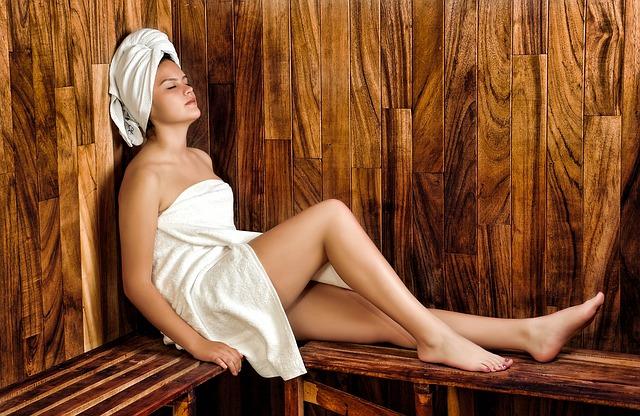 klídek v sauně