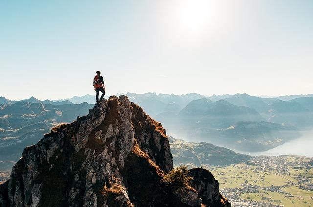 Muž a hory